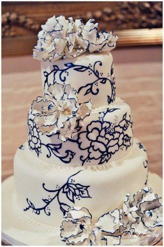 کیک عروسی جدید با گلهای برجسته