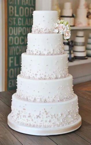 یک مدل ساده برای کیک عقد و عروسی با تزیین توپکهای ریز