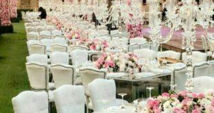 عروسی در بین گل ها