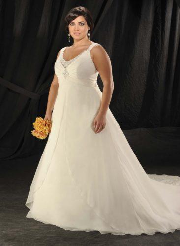 انتخاب لباس عروس مناسب براى خانم هاى درشت اندام