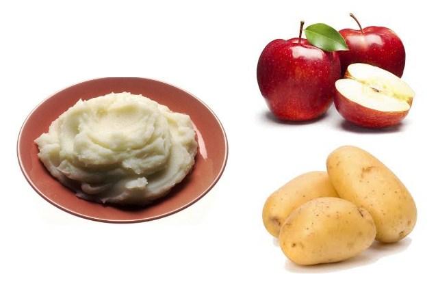 ماسک سیب زمینی و سس سیب