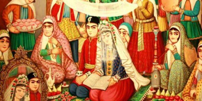 مطالعه و بررسی تاریخچه مراسم عقدکنان و معنای عناصر سفره عقد در ایران