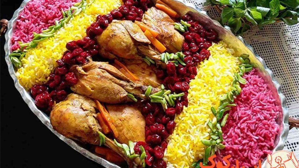 طرز تهیه آلبالوپلو با مرغ